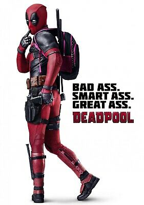 DEADPOOL Movie PHOTO Print POSTER Film Ryan Reynolds Bad Ass Glossy Art 002