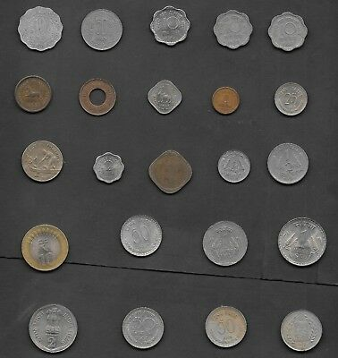 Lot of 23 Coins from India all Circulated mix bunch
