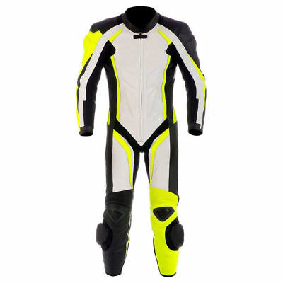 Men Motorcycle Leather Racing Suit Ce Approved Protection All Sizes