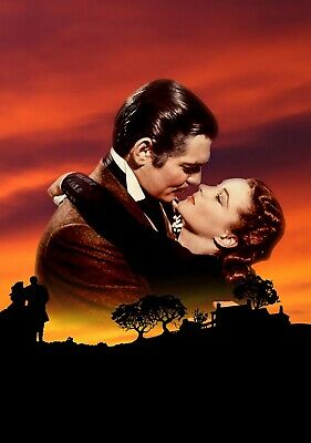 GONE WITH THE WIND Movie PHOTO Print POSTER Classic Film Textless Clark Gable 02