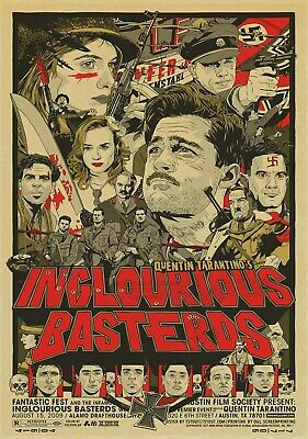 INGLORIOUS BASTERDS BRAD PITT W MAGUIRE Poster Canvas art Prints