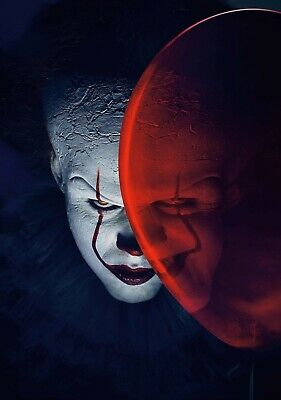 IT Movie PHOTO Print POSTER 2017 Textless Art Pennywise Stephen King Clown 001