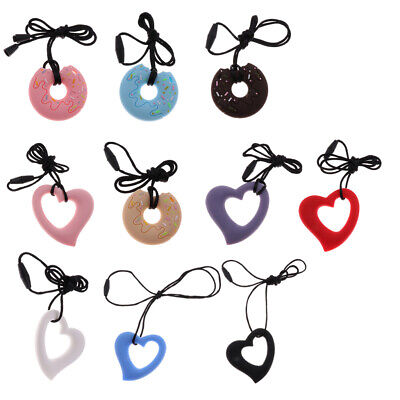 Nursing Pendant Baby Teether Silicone Soother Teething Necklace Chew Toy
