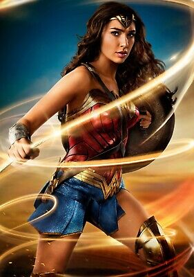 AB056 WONDER WOMAN MOVIE POSTER Photo Picture Poster Print Art A0 to A4