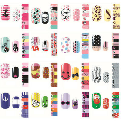 Hot Sale Nail Art Decoration Wraps Manicure 3D Acrylic Full Nail Stickers Decals