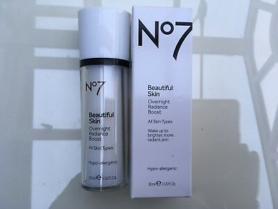 No 7 Beautiful Skin Overnight Radiance Boost All Skin Types 30 ML