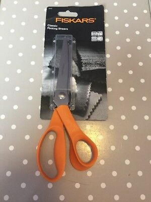 FISKARS CLASSIC QUALITY PINKING SHEARS zig zag SCISSORS 9445  23cm
