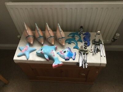 Collection Bathroom ornaments to include fish , chimes etc ideal for wholesale