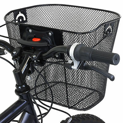 Bike/bicycle Metal Mesh Basket & Quick Release Bracket Shopping Handle Ces31518