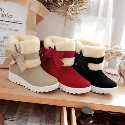 Women Boots Women Winter Fashion Shoes Solid Snow Boots Female Ankle Boots RA