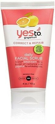 Yes To Grapefruit Daily Facial Repair Scrub Lemon Balm 4 Oz - Pack of 3