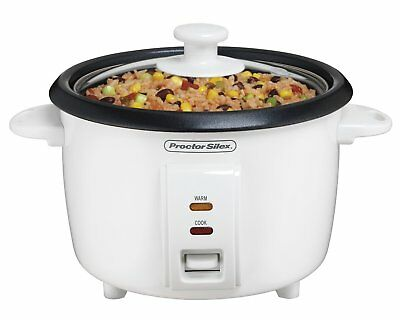 Proctor Silex Rice Cooker 4 Cups uncooked resulting in 8 Cups cooked 37534NR