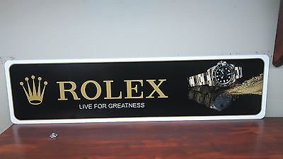 "Rolex Watch Gold Aluminum sign  6"" x 24"""