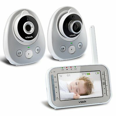 VTech VM342-2 Video Baby Monitor with 170-Degree Wide-Angle Lens for Panoramic &