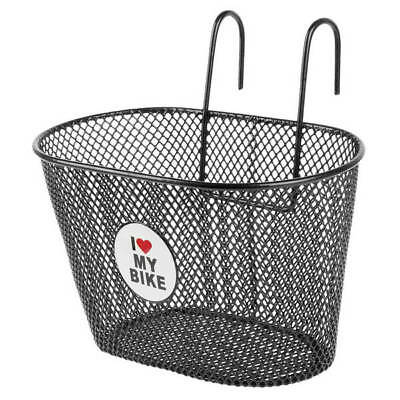 Bicycle Basket I Love My Bike Front Wire Mesh Bottom Childrens Adult 25X15 X16cm