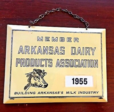 Sign Bastian Bros. Co.- MEMBER ARKANSAS DAIRY PRODUCTS ASSOC. 1955-Milk Industry