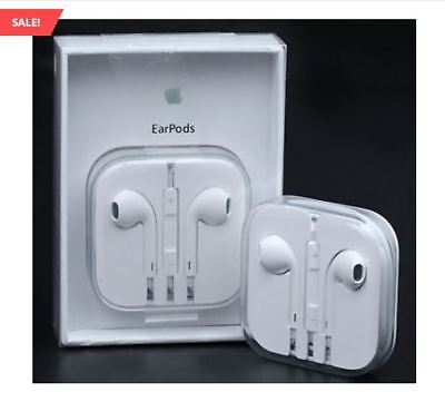 New Authentic Apple Earpods W/ Remote & Mic For iPhone 6S 6 Plus 5SE 5C 5