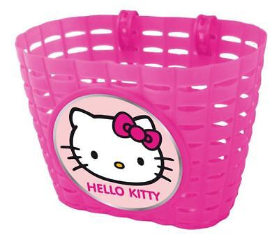 Hello Kitty Plastic Front Basket Pink, 19 X 12 X 15cm (approximately)