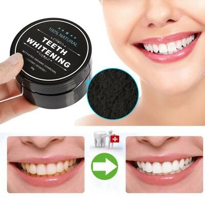 100 % Natural Activated Charcoal Whitening Tooth Teeth Powder Toothpaste UK