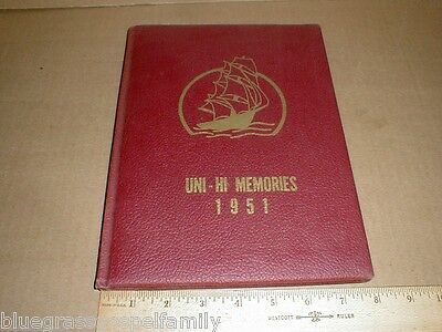 1951 Union County High School North Carolina NC Grades 1st-12th vtg old Yearbook