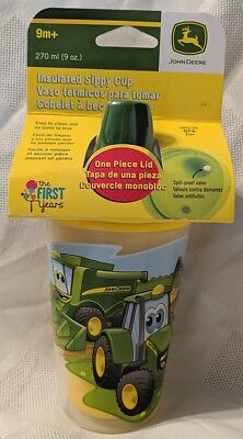 John Deere TBEKY9698A Insulated 9oz Tractor Sippy Cup BPA Free