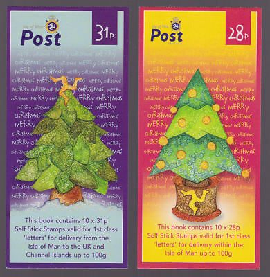 Isle of Man 2006 Mint MNH Booklet Self Adhesive Christmas Trees issue 10x28p 31p