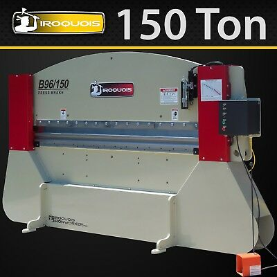 "96"" Iroquois Hydraulic Press Brake, 150 Ton, MADE IN USA! IN STOCK!"