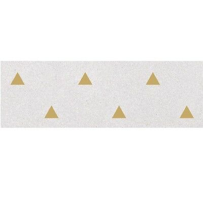 Faience murale blanche motif triangle or 32x99cm BARDOT-R Humo - 1,27m²