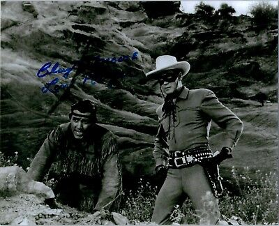 CLAYTON MOORE Signed Autographed THE LONE RANGER 8X10 Photo