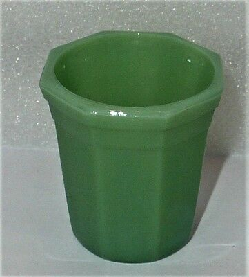 Akro Agate Octagonal Beautiful Green Tumbler ~ 3 Available