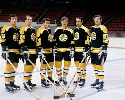 Don Awrey,Dallas Smith,Bobby Orr  Boston Bruins 8x10 Photo