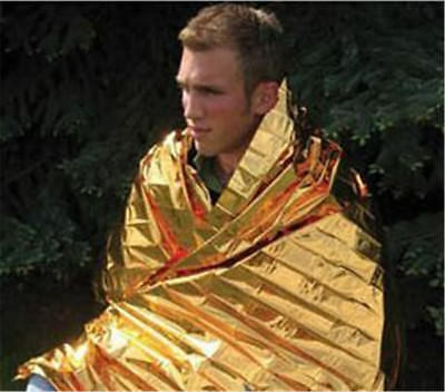 1X Foil Space Blanket Emergency Survival Blanket Thermal Rescue First Aid