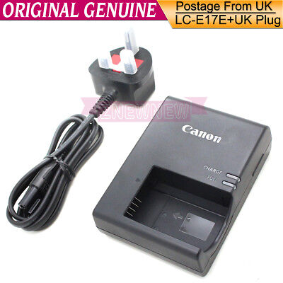 Genuine Original Canon LC-E17E Charger for LP-E17 Battery EOS 750D 800D 760D M6