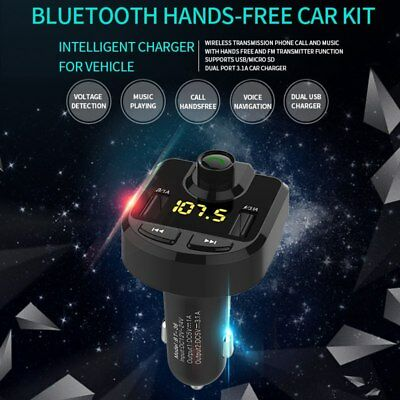 BT36 Bluetooth Car Kit Wireless FM Transmitter Dual USB Charger Audio MP3 Player