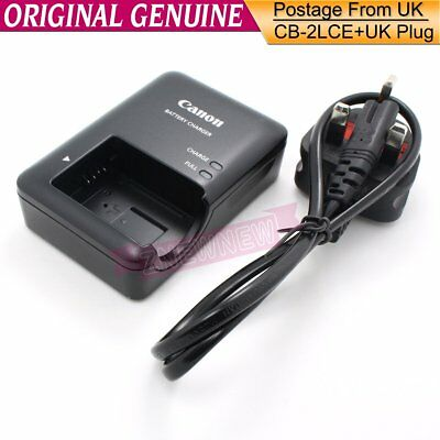 Genuine Original Canon CB-2LCE Charger For PowerShot SX40 SX50 SX60 G1X G16 2LC