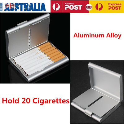 Pocket Cigarette Cigar Storage Case Box Tobacco Container Holder Aluminum Gift