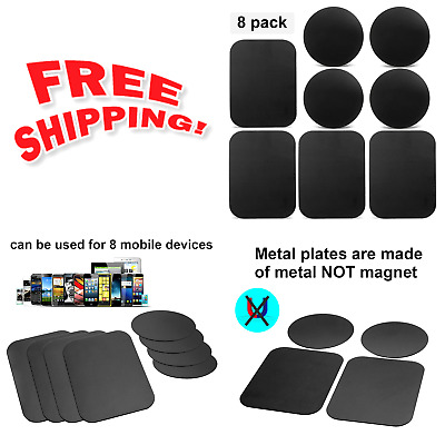 8Pack Mount Metal Plate, Volport Universal for Magnetic Phone Car Holder Cradle!