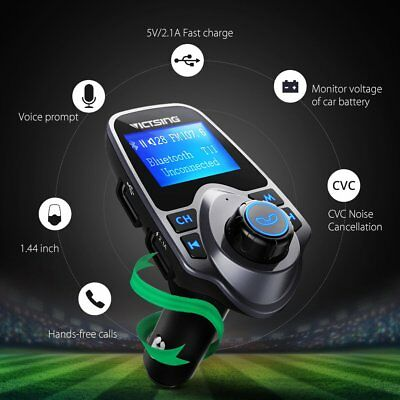 Bluetooth Car FM Transmitter Wireless Adapter USB Charger Mp3 Player 1 PACK