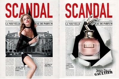 PUBLICITÉ PAPIER  - ADVERTISING PAPER SCANDAL JEAN PAUL GAULTIER 2 pages