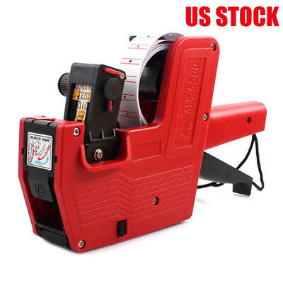 MX-5500 8 Digits EOS Price Tag Gun Red Lines Labels Supermarket Price Labeler KB