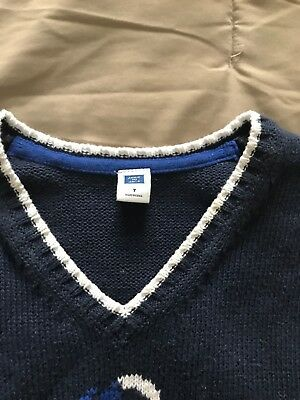 JANIE AND JACK NAVY SWEATER anchor VEST BOYS  SIZE 7