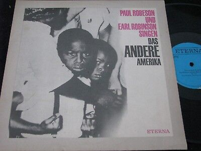 PAUL ROBESON & EARL ROBINSON SINGEN../DDR blue Label Reissue LP'80 ETERNA 810021