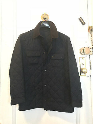 Barbour Jacket Quilted Mens Medium Navy Blue Used Tinford Regular Fit