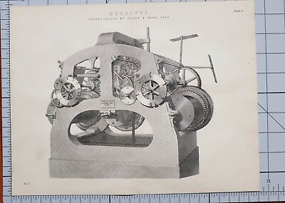 1868 Print Horology Turret Clock By Cooke & Soons York
