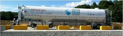 LNG mobile pump station for dispensing liquid natural gas