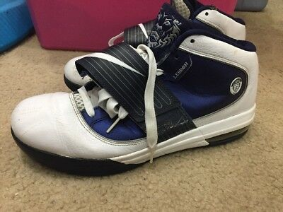 newest 02e5a 884d3 2010 Nike Lebron Zoom Soldier IV 4 TB Size 12 - White Navy Blue - 407630