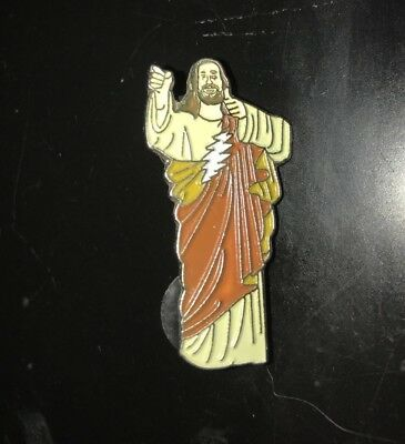 Never Miss A Sunday Show Grateful Dead Buddy Christ Hat Pin Extremely Rare
