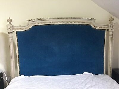 Antique French large single bed with Mattress