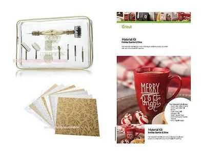 Cricut & Anna Griffin Accessory Pkg - Holiday Sheets, Material Kit + Tool 'n One