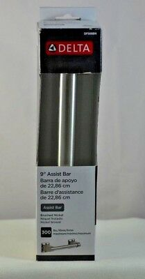 "New Delta 9"" Assist Bar Brushed Nickel Df509Bn Fast-Free Shipping"